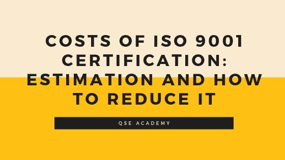 ISO 9001Cost