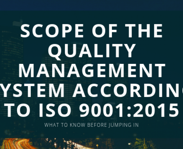 Scope ISO 9001