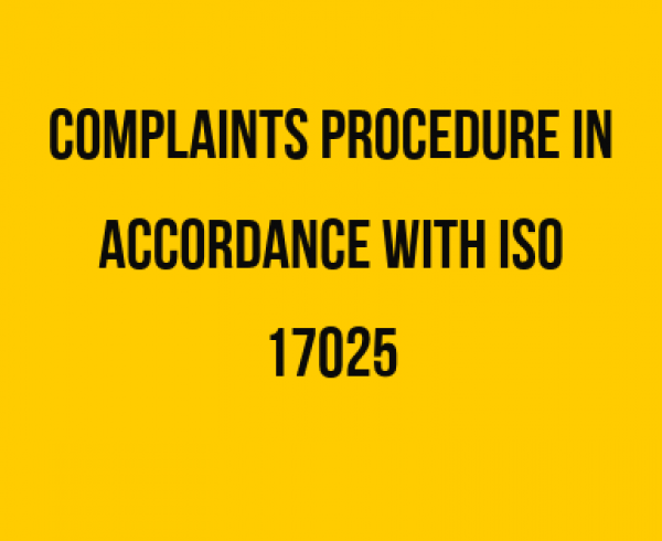 Complaints ISO 17025
