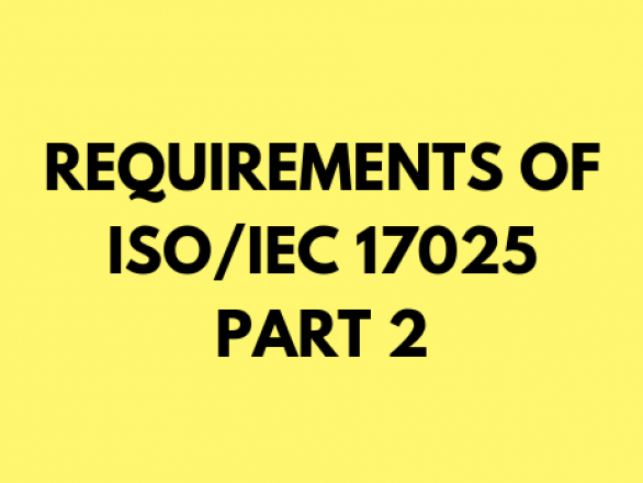 Requirement of the ISO/IEC 17025 2017