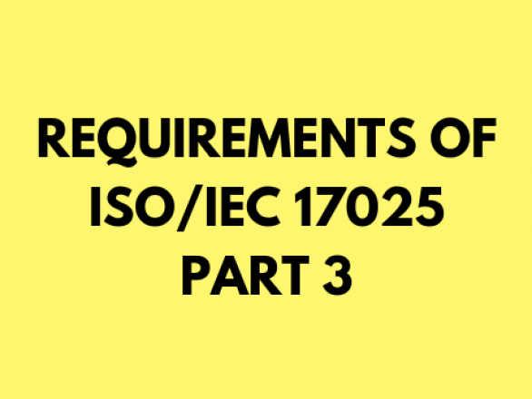 Requirements of ISO 17025 2017