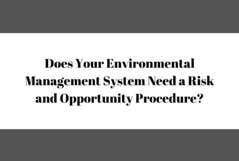 Does Your Environmental Management System Need a Risk and Opportunity Procedure