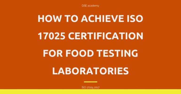 ISO/IEC 17025 accreditation Food testing Laboratories