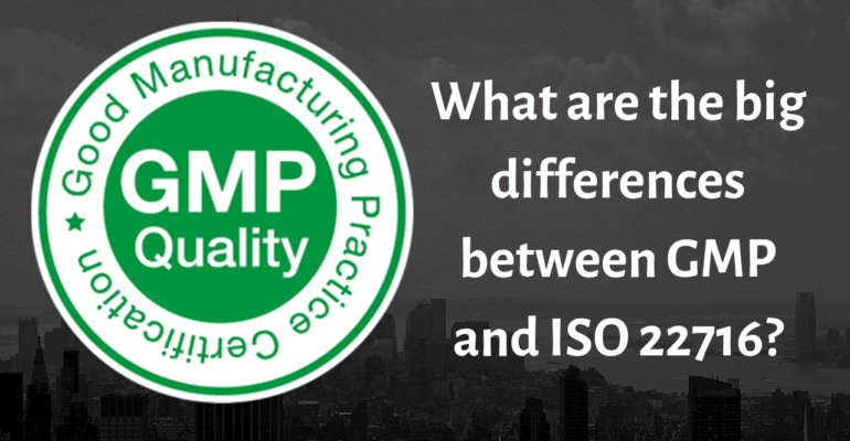 What are the big differences between GMP and ISO 22716