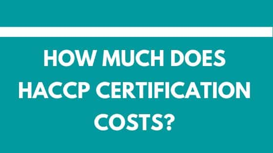 How much does HACCP certification costs?